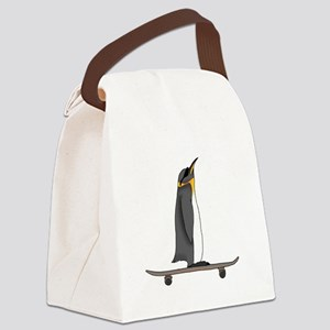 Cool Penguin Canvas Lunch Bag