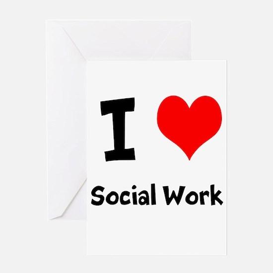 I heart Social Work Greeting Card