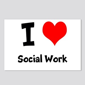 I heart Social Work Postcards (Package of 8)