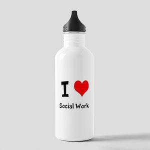 I heart Social Work Water Bottle
