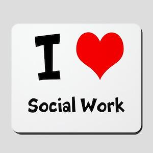 I heart Social Work Mousepad