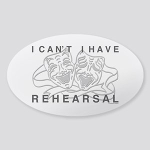 I Can't I Have Rehearsal w LG Drama Masks Sticker