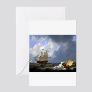 Pictura stationery cafepress calm sea johannes christiaan schotel greeting ca m4hsunfo