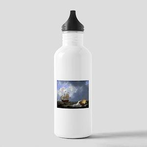 Calm Sea (Johannes Christiaan Schotel) Water Bottl