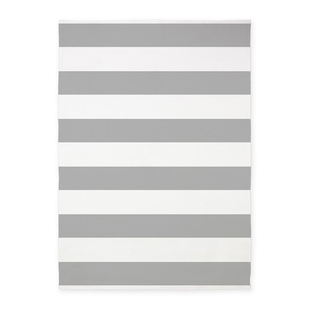 Light Gray And White Bold Stripes 5x7area Rug By Hhtrendyhome