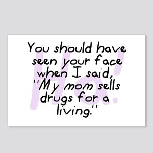 Mom Sells Drugs Postcards (Package of 8)