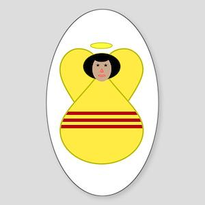 S. Vietnamese Flag Angel Sticker (Oval)