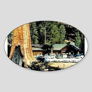 Retro Red Wood Park Sticker
