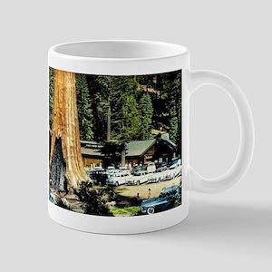 Retro Red Wood Park Mug