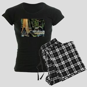 Retro Red Wood Park Pajamas