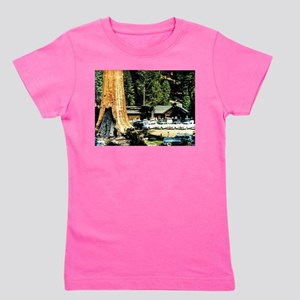 Retro Red Wood Park Girl's Tee