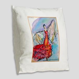 Flamenco dancer, art! Burlap Throw Pillow