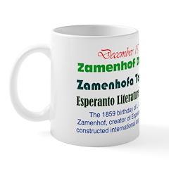 Mug: Zamenhof Day Zamenhofa Tago 1859 birthday of