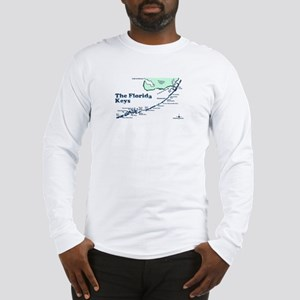 Florida Keys - Map Design. Long Sleeve T-Shirt