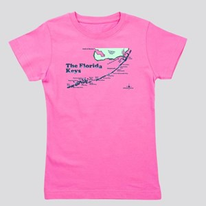 Florida Keys - Map Design. Girl's Tee