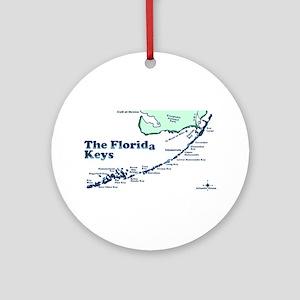 Florida Keys - Map Design. Ornament (Round)