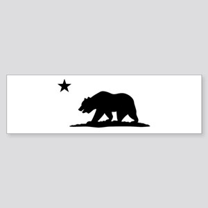 Cali Bear Black Bumper Sticker