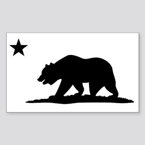 Cali Bear Black Sticker