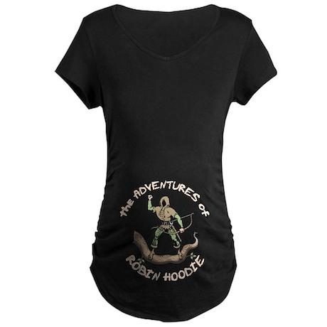 Robin Hoodie Maternity Dark T-Shirt