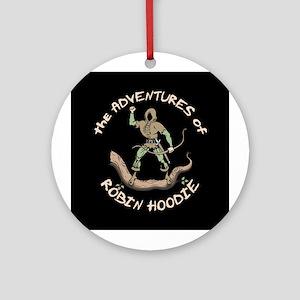 Robin Hoodie Ornament (Round)