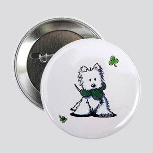 "Lucky Clover Westie 2.25"" Button"