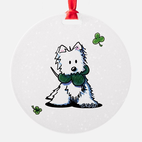 Lucky Clover Westie Ornament