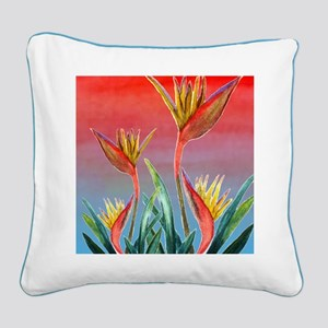 Bird of Paradise Square Canvas Pillow