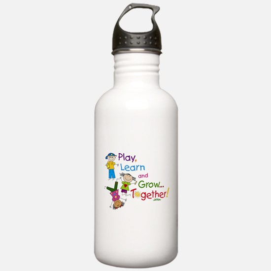 Play, Learn, Grow Together! Water Bottle