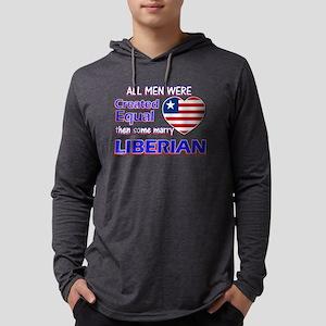 Liberian flag designs Mens Hooded Shirt