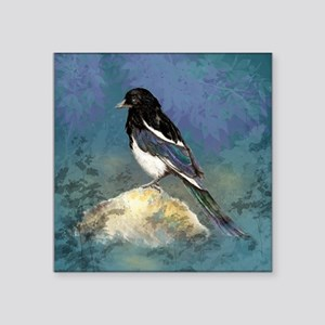 Watercolor Magpie Bird Art Sticker