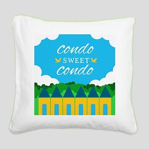 Condo Sweet Condo Square Canvas Pillow
