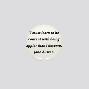 Austen - Learn to Be Content Mini Button