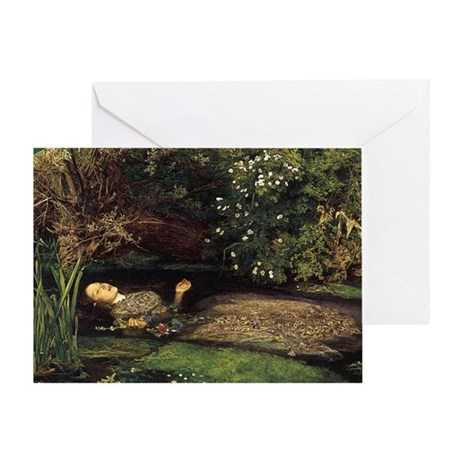 Millais Ophelia Greeting Card