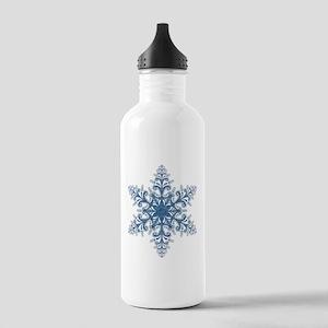 Blue Snowflake Water Bottle