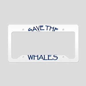 Save the Whales License Plate Holder