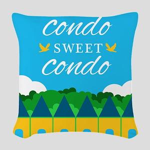 Condo Sweet Condo Woven Throw Pillow