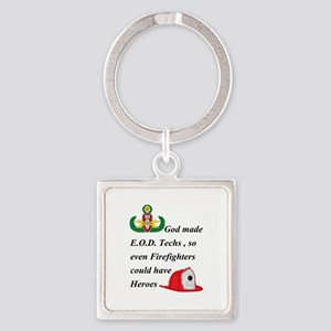 EOD - Firefighter hero Square Keychain
