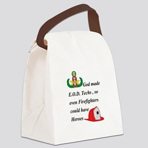 EOD - Firefighter hero Canvas Lunch Bag