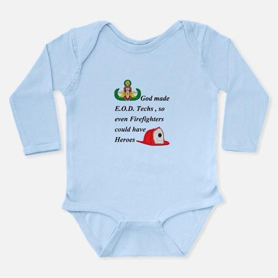 EOD - Firefighter hero Long Sleeve Infant Bodysuit