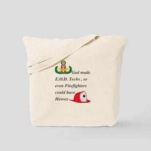 EOD - Firefighter hero Tote Bag
