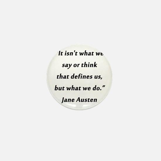 Austen - Say or Think Mini Button