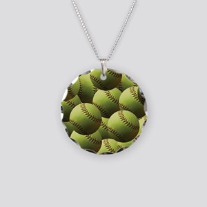 Softball Wallpaper Necklace