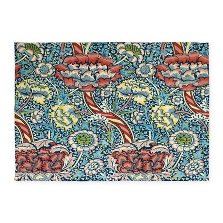 Wandle Design wandle design by william morris 5 x7 area rug by fineartdesigns