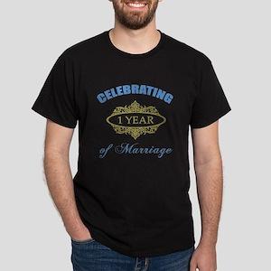 Celebrating 1 Year Of Marriage Dark T-Shirt