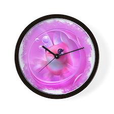 Whimsical Pink Fish Wall Clock