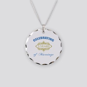 Celebrating 5 Years Of Marriage Necklace Circle Ch