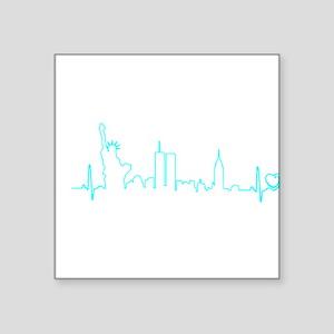 New York Heartbeat (Heart) AQUA Sticker