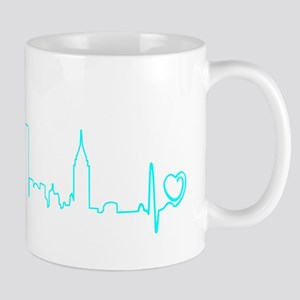 New York Heartbeat (Heart) AQUA Mug