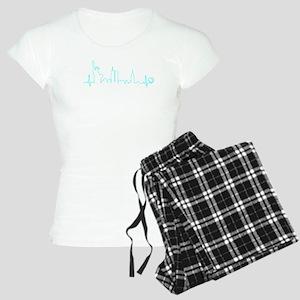 New York Heartbeat (Heart) AQUA Pajamas