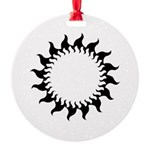 Sunny Flames Round Ornament